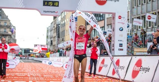 Lauras Sieg beim Köln Marathon 2016 über die Halbmarathon-Distanz