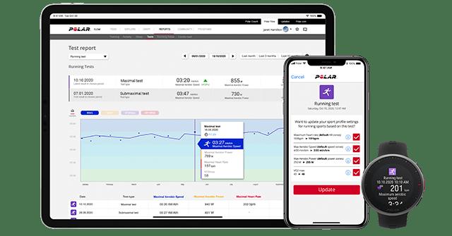 Polar Flow App und Polar Webservice