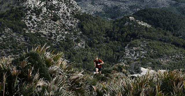 Trailläufer in den Bergen