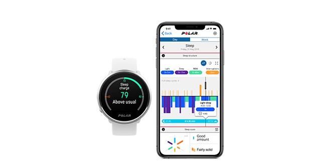 Polar Ignite und Polar Flow App mit Schlafanalyse