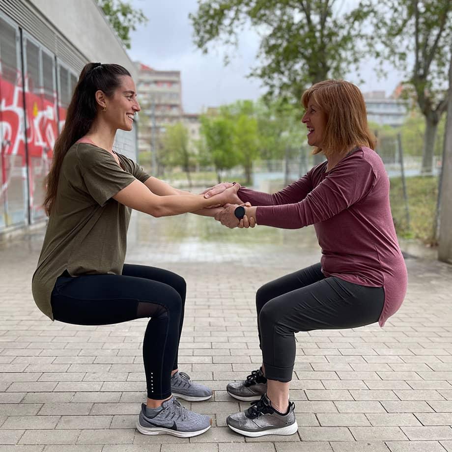 Squat en pareja