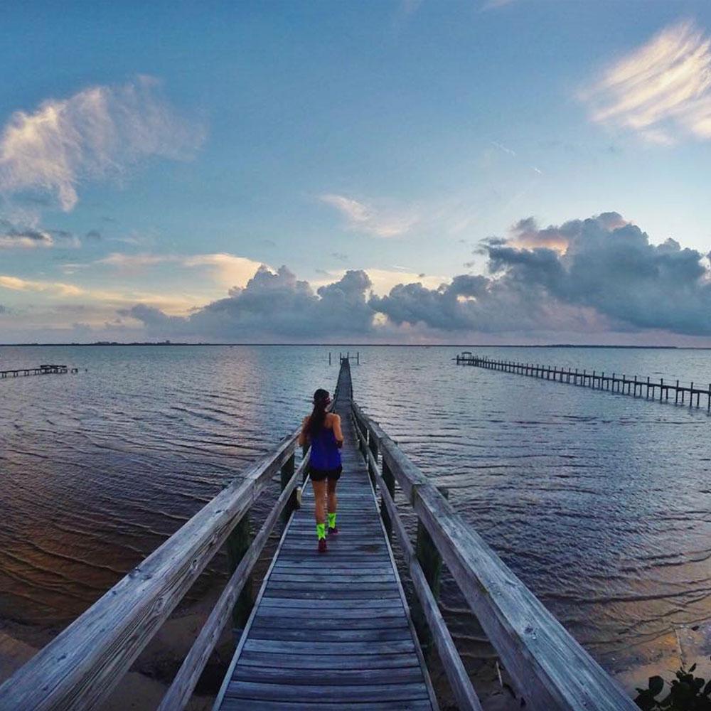 Running pier