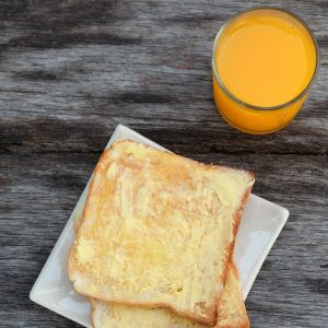 Toast and orange juice