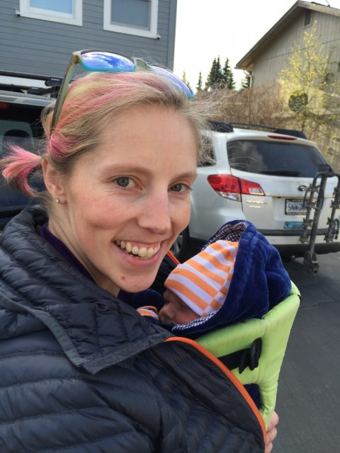 Kikkan and baby Breck