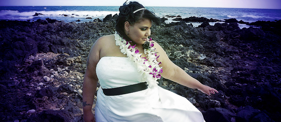 Katie on her wedding day before her weight loss journey