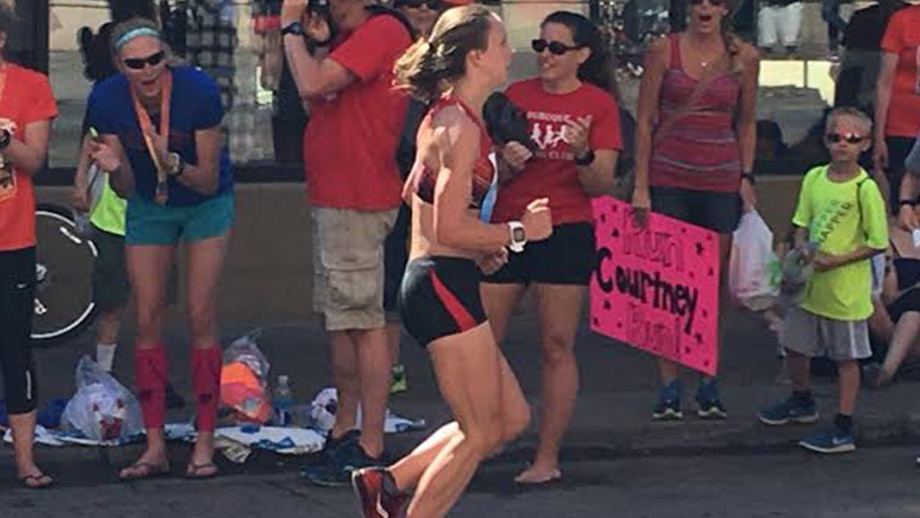 Clara takes 3rd in Grandmother's marathon