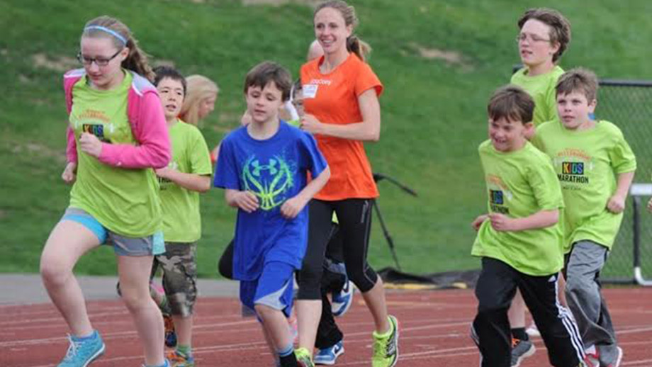 Clara inspires next generation of runners