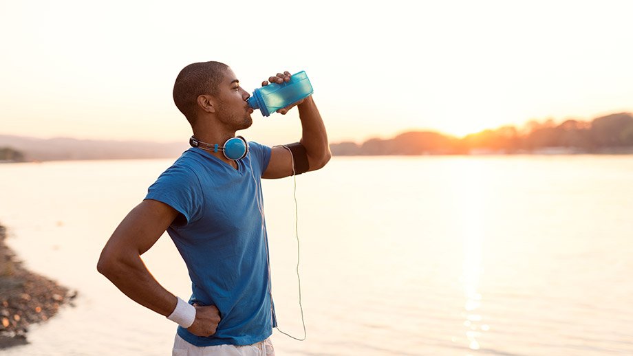 Consume fluids little and often after exercise to rehydrate