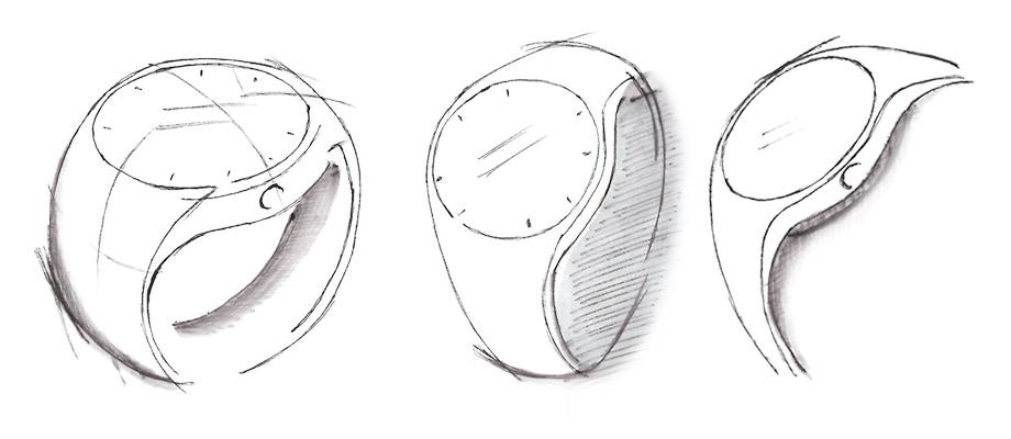 Polar M200 GPS Running Watch design sketches