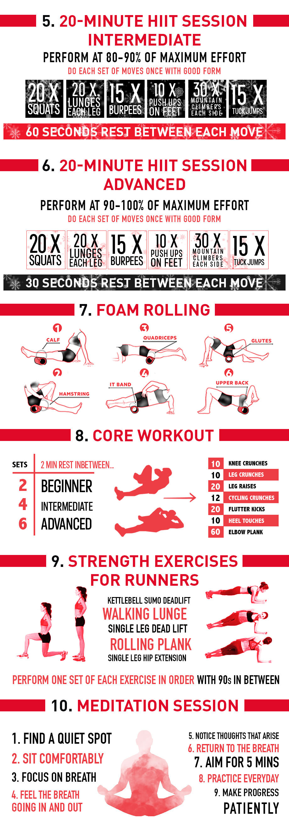 At Home Workouts For The Holidays Infographic Polar Blog