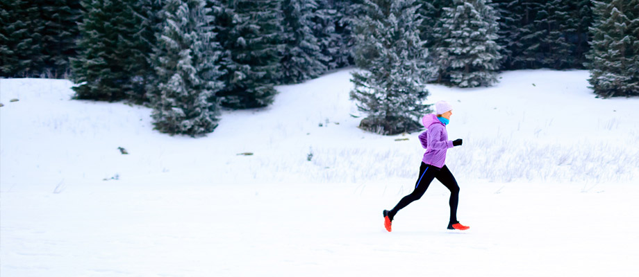 how to go running in the winter