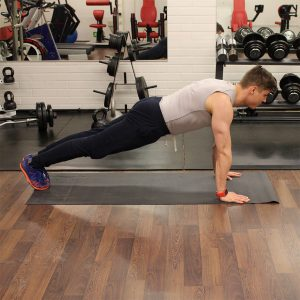 Proper push up form