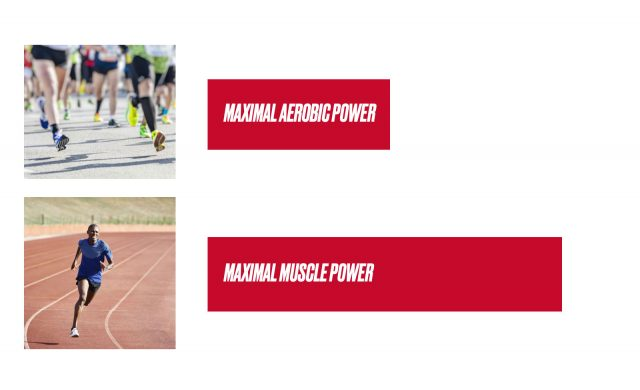 Maximal aerobic power vs maximal muscle power -power vs heart rate