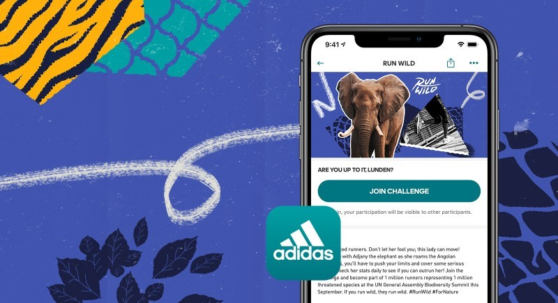Run Wild 2020 African elephant CREDIT adidas Runtastic