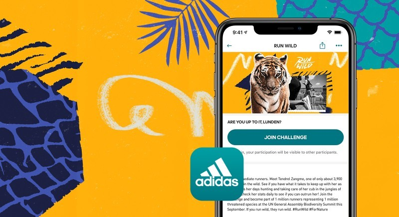 Run Wild 2020 Bengal tiger CREDIT adidas Runtastic