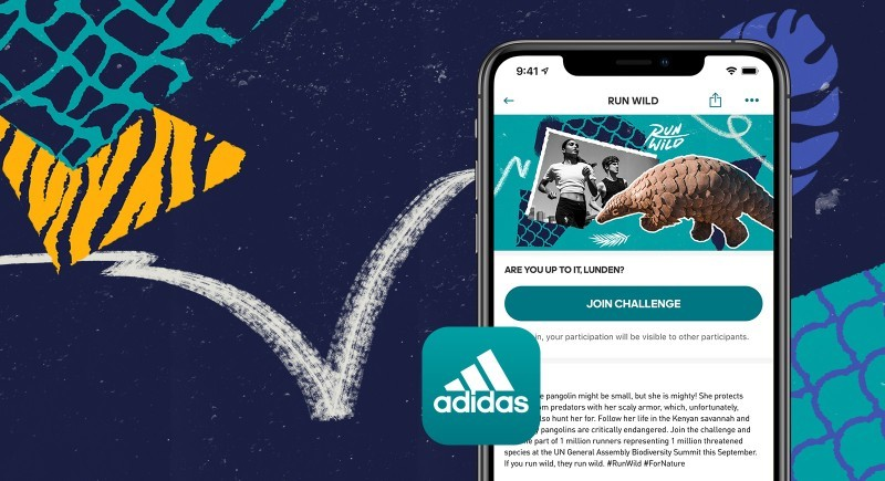 Run Wild 2020 pangolin CREDIT adidas Runtastic