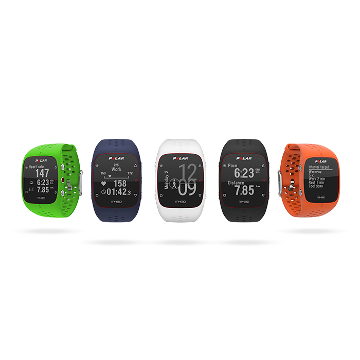 Polar M430 is available in three sporty colors