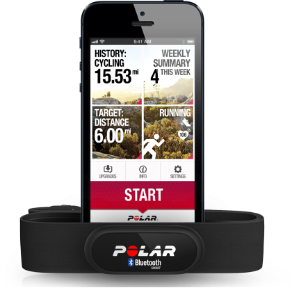 Polar Beat and H6 heart rate sensor