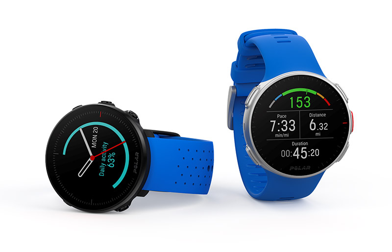 Polar Vantage M and Vantage V in blue