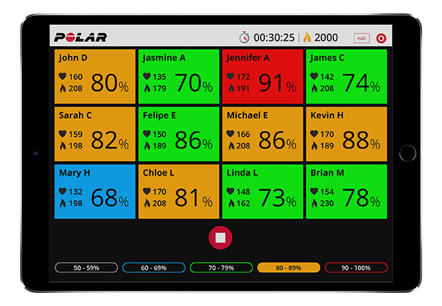 Polar Club | Wearable group heart rate tracking app with